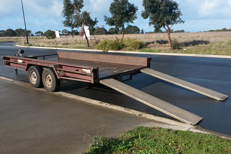 "Trailer – 14x6'6"" Car Carrier Tandem Axle"